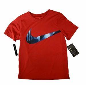 NWT Nike red Dri fit tee